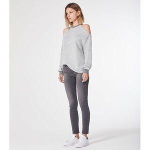 AG gray skinny legging jean stretch